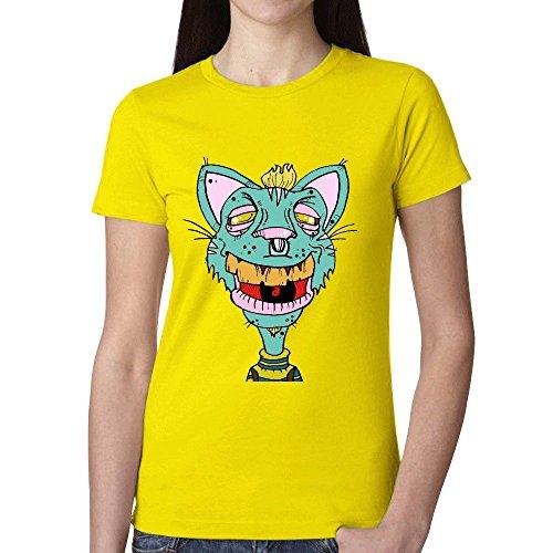 cheshire-cat-761-t-shirts-for-women-yellow