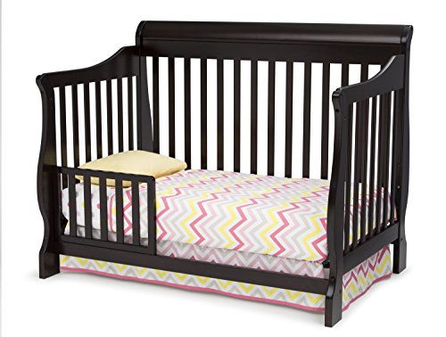 Delta Children Canton 4-in-1 Convertible Baby Crib, Dark Chocolate