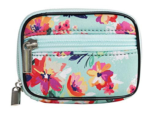 Pill Box Vitamin and Supplement Holder, 7-Day Organizer Neoprene Medicine Case (Flower, - Pill Organizer Box