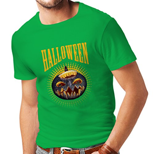 T shirts for men Halloween pumpkin - clever costume ideas 2017 (XX-Large Green Multi Color) (Dry Ice Halloween Ideas)