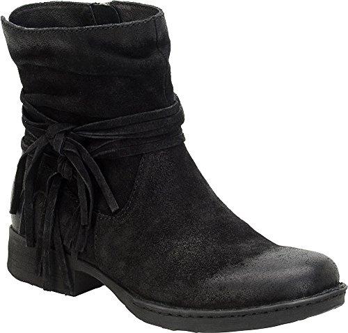 Born Black Shoes - Born Women's Cross Shoes, Black Distressed - 7 B(M) US
