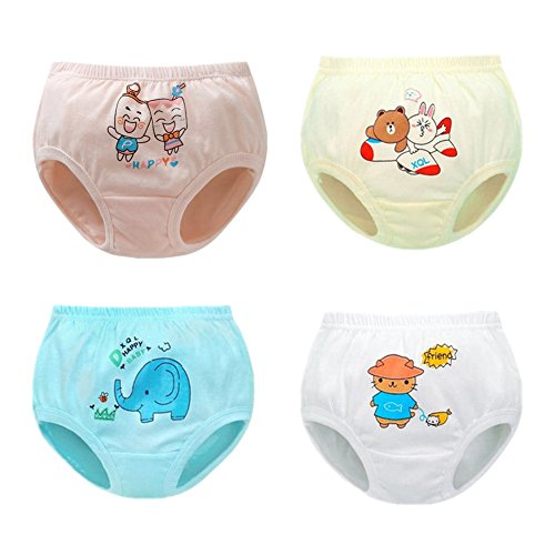 JIEYA Baby Girls Cotton Underwear with Bow-Knot Briefs Panties,Pack of 3 or 5