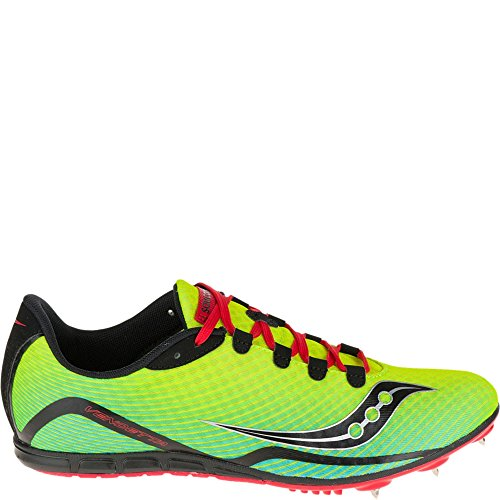 Saucony Men's Vendetta Track Spike Racing Shoe, Citron/Blue/Red, 12 M US (Track Spikes Men Shoes)