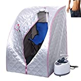 New Steam Sauna Home Spa - Portable Folding Tent Detox Heat Therapy, Weight loss, Clean body, Sleep well - Size 30.70''(L) x 35.43''(W) x 40.5''(H) Color Silver