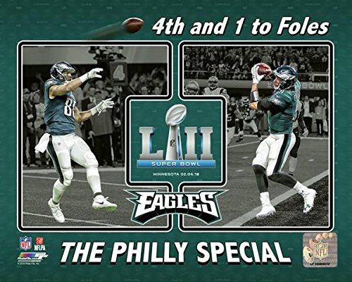 "Eagles Super Bowl 52 Trey Burton & Nick Foles Philly Special Touchdown Collage 8"" x 10"" Football Photo"