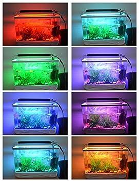 runqiao Hi de lúmenes 3 Model RGB regulable LED Iluminación Acuarios Caja aluminio de alta calidad Acuario aufsetzl euchte Mar de agua dulce Agua Acuario ...
