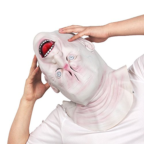 Halloween Scary Mask Killer Fancy Dress Costume Upside side down Skull Horror Decoration Prank Prop