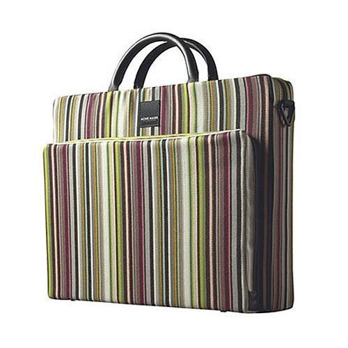 Acme Made The Slim Cargo, Medium Attache' Style Shoulder Bag, for General Use or Documents, Paul Smith Stripe Modulating ()