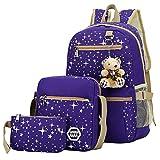 Yookeyo Girls School Bag 3Pcs for Elementary, Backpack/Shoulder Bag/Handbag