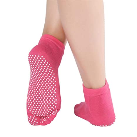 EABBY Calcetines de Yoga Profesionales para Mujer Calcetines ...