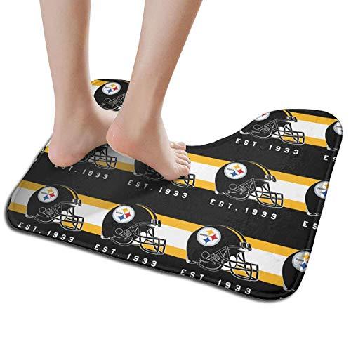 - Jacoci Custom Pittsburgh Steelers Toilet Doormat Non Slip Floor Door Mat Bath Rug for Bathroom Decor Standard Size 19.3 x 15.7 Inches