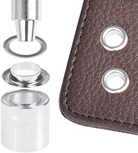 120 Set 1//2 Inch Grommet Tool Kit with 3 Pcs Installation Tools for Fabric Leather Clothing Sliver Canvas Curtain