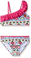 Jantzen Little Girls Bikini Swimsuit, Fuchsia/Aztec Print, 6