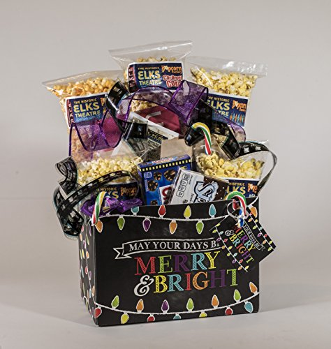 Merry and Bright Gourmet and Theater Popcorn Gift Basket ()