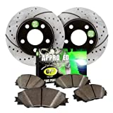 Approved Performance C3152 - [Front Kit] Performance Drilled/Slotted Brake Rotors and Carbon Fiber Pads