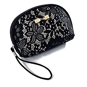 JD Million shop Cosmetic Bag Women Bow-Knot Small Makeup Bags For Ladies Daily Use Zipper