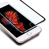 VIUME iPhone 6 Plus / 6s Plus Screen Protector, Premium Edge to Edge Film 3D Curved Full Coverage Tempered Glass Screen Protectors for Apple iPhone 6 Plus / 6s Plus 5.5' (Metal Black)