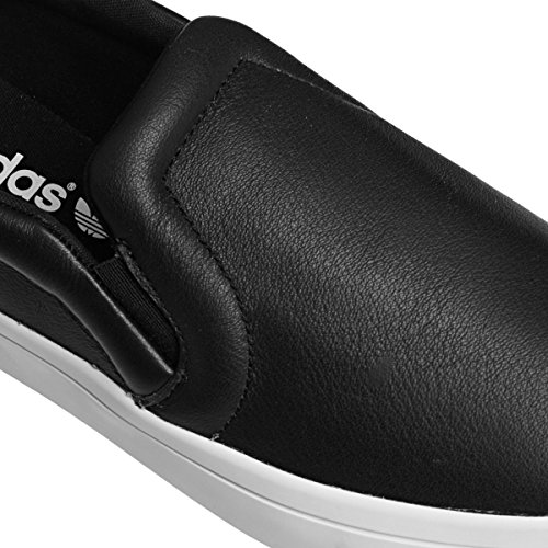 adidas Womens Originals Womens Courtvantage Slip On Trainers in Black-White - UK 7 c0grlM