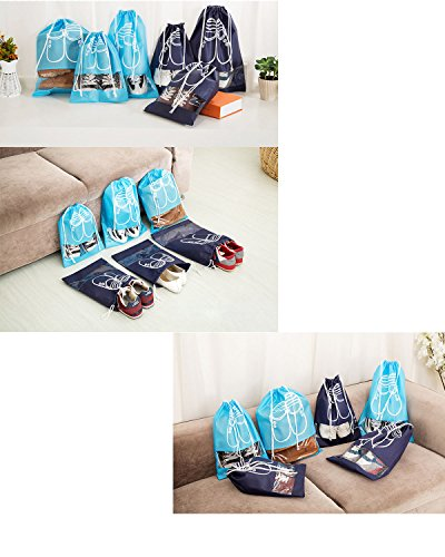 Agreatca 12Pcs Portable Travel Shoe Bags Space Saving Storage Bags Dust-Proof Waterproof Shoe Organizer Travel Shoe Bags by Agreatca (Image #2)