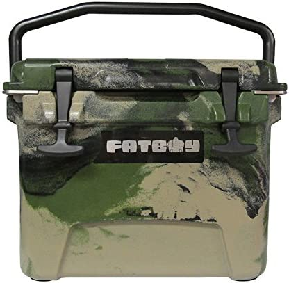 Fatboy 10QT Rotomolded Cooler Chest Ice Box Hard Lunch Box – Army Camo