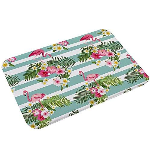 Rubber 6760 (Sunshine-G Flamingo Door Mats 23.6 x 15.7 Inch Floor Bath Kitchen Entrance Rug Absorbent Indoor Bathroom Mat Rubber Non Slip Decor Doormats(12))