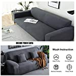 HEYOMART High Stretch Sofa Cover Water Repellent 1 2 3 4 Seater Couch Cover for Living Room Jacquard Knitted with Lycra…