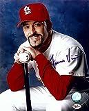 Fernando Vina Signed Autographed 8X10 Photo St. Louis Carinals Pose w/Bat w/COA