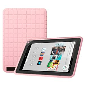 "Poetic GraphGrip Silicone Case for Barnes & Noble Nook HD+ 9"" Inch Tablet Light Pink (3 Year Manufacturer Warranty From Poetic)"