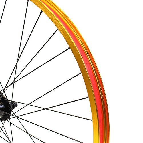 Set of Bicycle Rims (26x32mm; Front & Rear; Anodized Gold) by ZycleFix (Image #1)