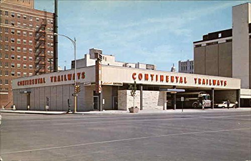 - Continental Trailways Bus Depot Lincoln, Nebraska Original Vintage Postcard