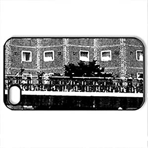 bikes - Case Cover for iPhone 4 and 4s (Modern Series, Watercolor style, Black)
