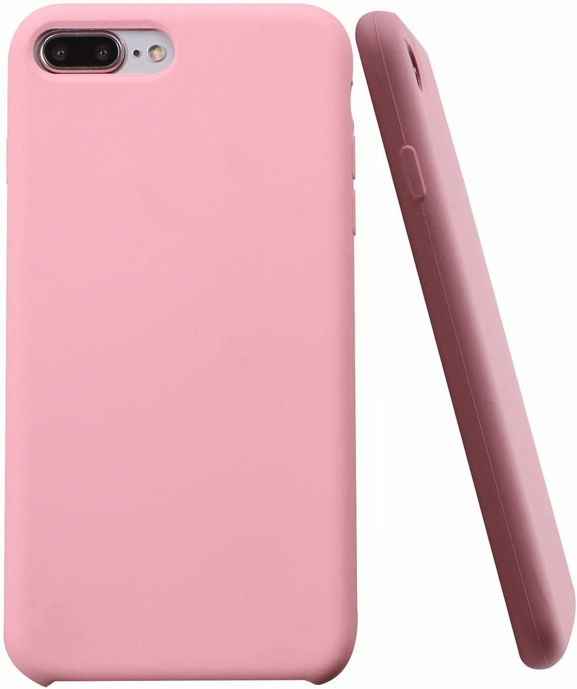 Soft Liquid Silicone iPhone 8 Plus Cover Case Inner Soft Microfiber Cloth Lining Cushion for Apple iPhone 7 Plus/iPhone 8 Plus (Light Pink)