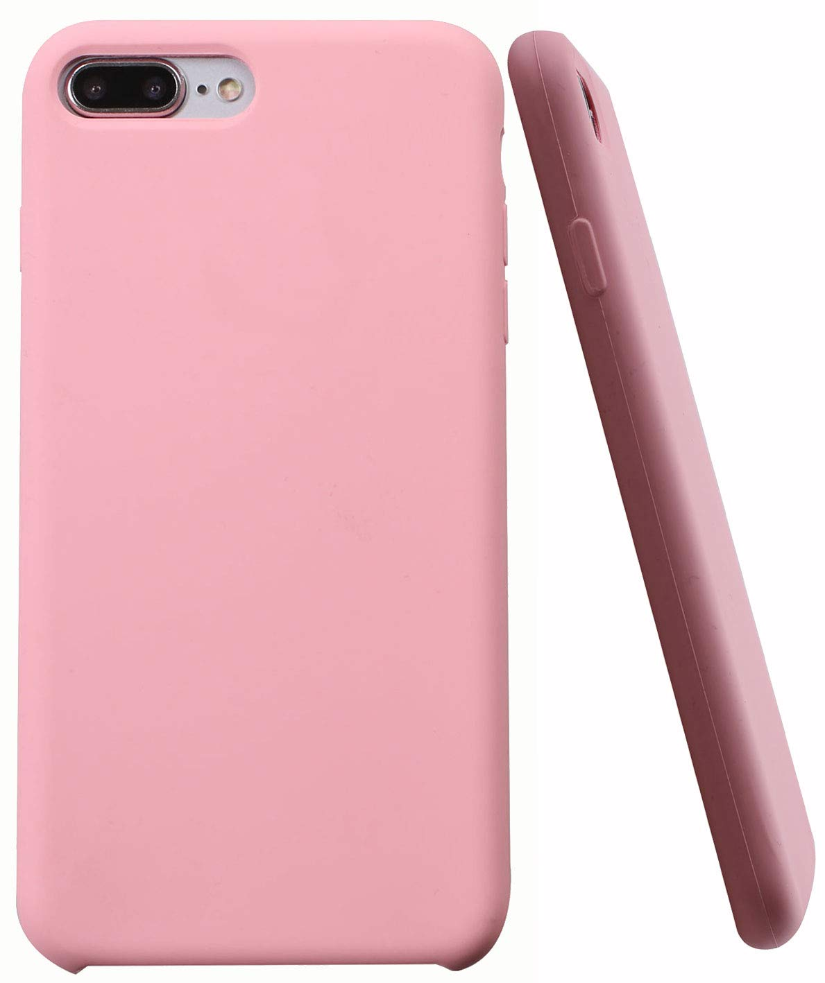 check out 0072f ac15e Soft Liquid Silicone iPhone 8 Plus Cover Case Inner Soft Microfiber Cloth  Lining Cushion for Apple iPhone 7 Plus/iPhone 8 Plus (Light Pink)