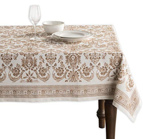 Maison d' Hermine Allure 100% Cotton Tablecloth 60 Inch by 60 Inch.