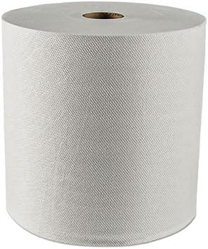 "Paper Roll Towels 8/""x350`,White,12//Cs *Free Dispenser*"