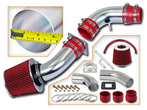 Rtunes Racing Short Ram Air Intake Kit + Filter Combo RED For 95-97 Ford Ranger / 95-97 Mazda B2300 2.3L L4