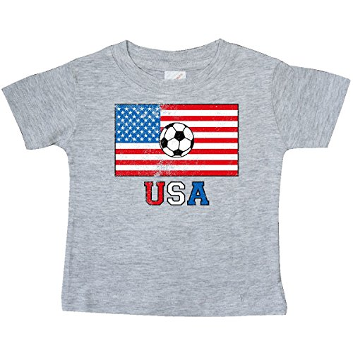 inktastic - USA Soccer Baby T-Shirt 12 Months Heather Grey ()