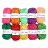 TYH Supplies 10 Skeins Scrubbing Dish Scrubber Yarn Assorted Colors for Crochet & Knitting Multi Pack Variety Colored Assortment 66 Yards Each Skein: more info