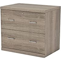 Z-Line Designs ZL2266-2OLU 2 File Cabinet, 2 Drawer Lateral, Washed Oak