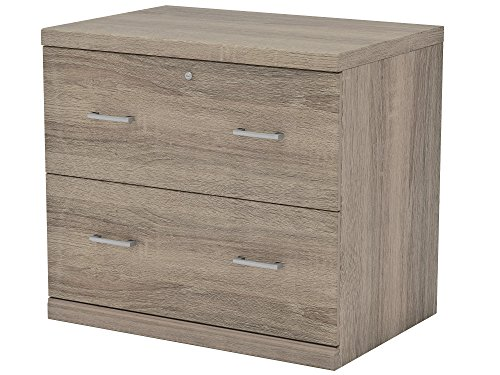Z-Line Designs ZL2266-2OLU 2-Drawer Washed Oak Lateral File Cabinet,