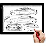 LightingWill A4 LED Tracing Light Box, Drawing Light Pad, Ultra-Thin Dimmable Brightness Portable USB Power Tracing Light Pad for Artists Drawing Sketching Animation Stenciling X-ray Viewing