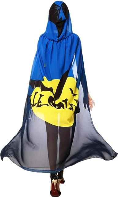 FUGUI mariposa Disfraz, mujer capa con capucha mariposa alas ...