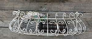 CHIC Antque ° Franz. Estilo rústico ° Flores Buzón ° pared colgador ° ° Antiguo de metal cesta para plantas ° Color Blanco
