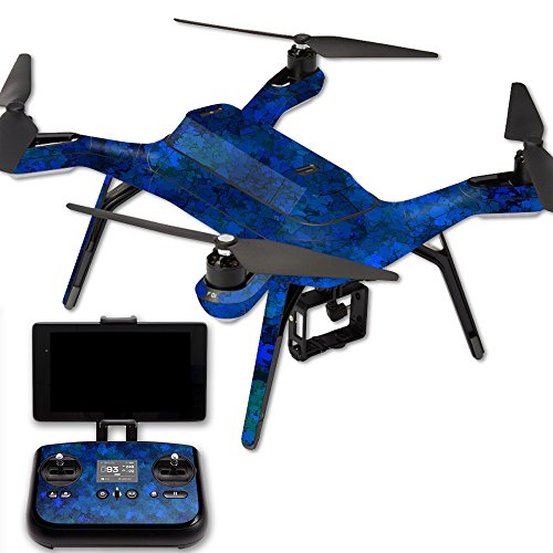 MightySkins Protective Vinyl Skin Decal for 3DR Solo Drone Quadcopter wrap Cover Sticker Skins Blue Ice