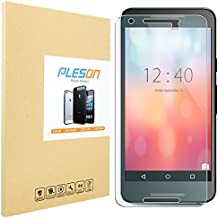 Nexus 5X Screen Protector, PLESON LG (Google) Nexus 5X Tempered Glass Screen Protector [2015], 99% Clarity, 0.2mm, 9H Hardness, Bubble Free, Glass Screen Protector for Nexus 5X