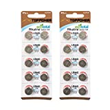 TOPPOWER Alkaline Button Cell Battery 1.5V 357A / LR44 / G13 / A76 2-Pack