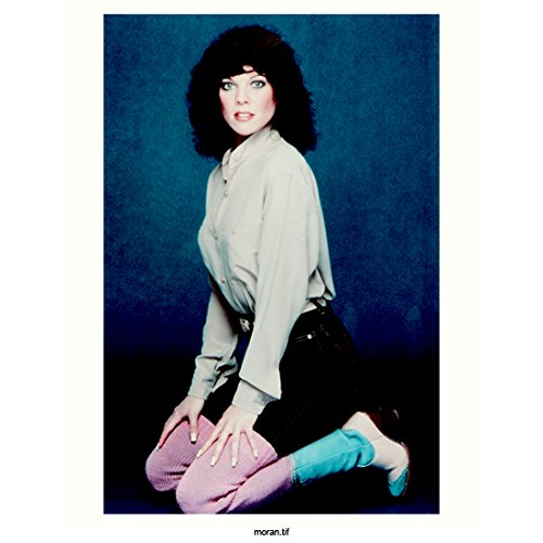 Happy Days 8 inch x 10 inch PHOTOGRAPH Joni White Dress Shirt Denim Skirt Pink Thermals and Boots Kneeling Fullh