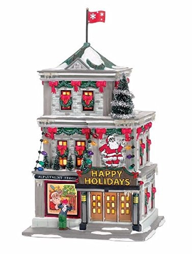 Department 56 A Christmas Story Village Happy Holiday Department Store Lit Building (Santa Christmas Story)