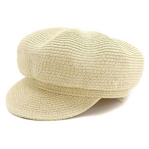 TWO-G Women's Straw Effortless Outside Sunscreen Cap Beret Hat