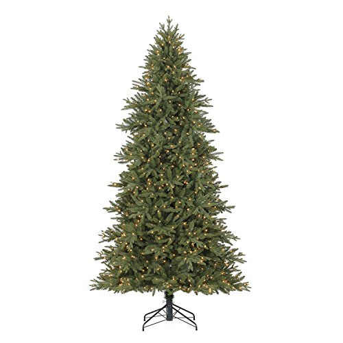 Trees Spruce Artificial (Evergreen Classics Colorado Spruce 9 ft Artifical Pre-Lit Christmas Tree w/800 Clear Lights & Folding Metal Stand)
